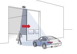 Activering van schuifdeuren voor personen en voertuigen