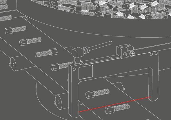 Aanwezigheidscontrole tellen kleine onderdelen met vorksensor - SensoPart