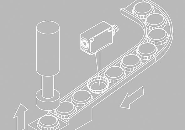 Objectcontrole met objectsensor F 25-RLH - SensoPart