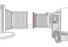 Snelvouwpoort met veiligheidslijst - ExpertSystem XL - BBC Bircher Smart Access
