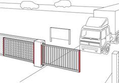 Terreinschuifpoort met veiligheidslijst - ExpertSystem XL - BBC Bircher Smart Access
