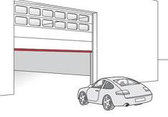 Verticale deur met veiligheidslijst - ExpertSystem XL - BBC Bircher Smart Access