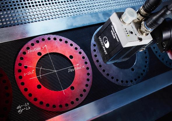 Vision camera meten van dikte en afstand - SensoPart