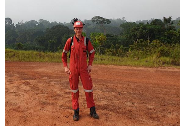Jarno in actie in Gabon, Afrika