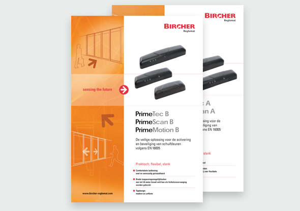 Download brochure | PrimeTec B | PrimeScan B | PrimeMotion B | Bircher Reglomat