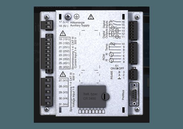 Achterkant - Power analyser UMG 509-PRO - Janitza