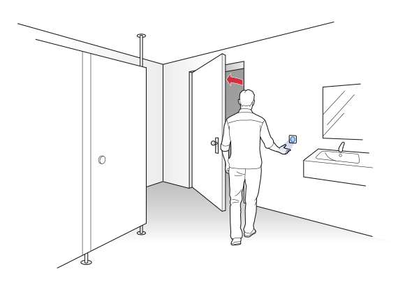 Clean switch voor publieke sanitaire ruimtes - BBC Bircher Smart Access