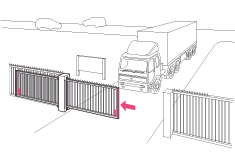 Sliding gate or telescope gate - RFGate 3 - BBC Bircher Smart Access