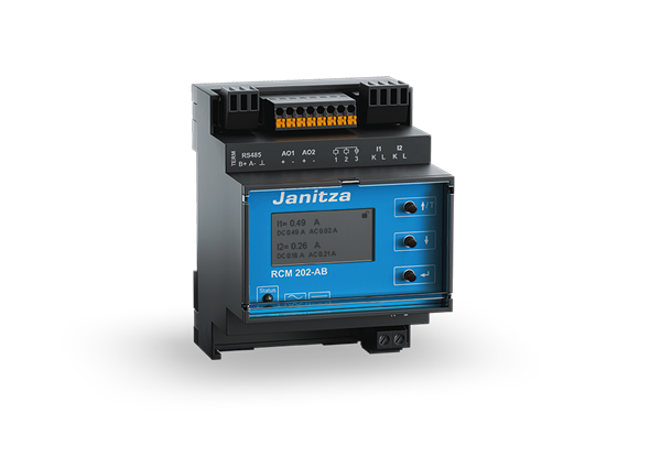 Janitza RCM 202-AB differentieel stroom monitoring