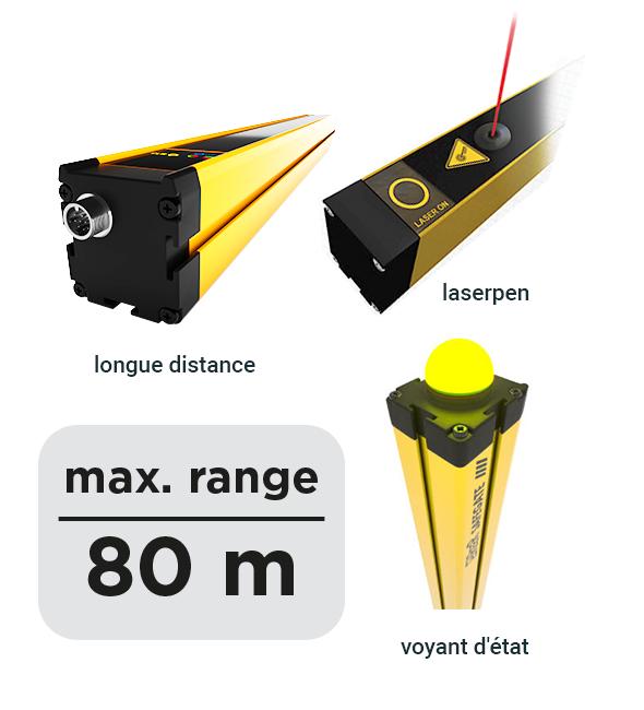 Safegate veiligheidslichtscherm voor lange afstand - ReeR Safety