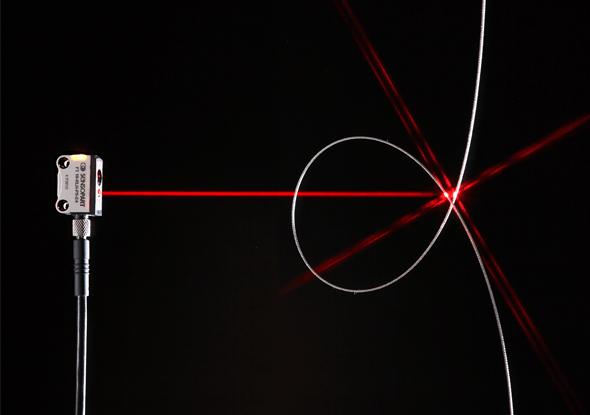 miniatuursensor met laserlicht