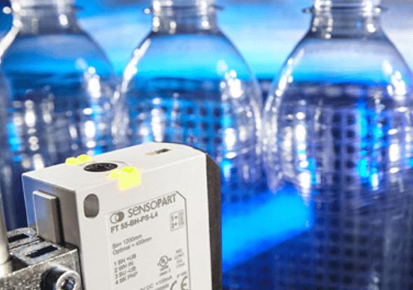 Detectie van doorzichtige flessen - SensoPart