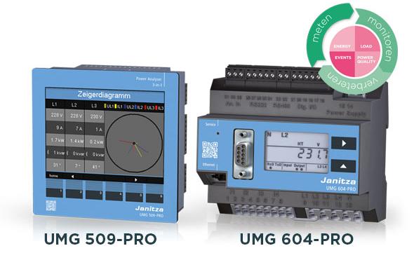 Power Analysers UMG 509-PRO en UMG 604-PRO - Janitza