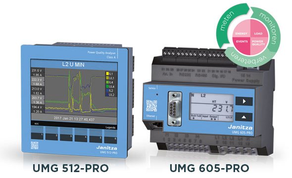Power quality analysers UMG 512-PRO - UMG 605-PRO - Janitza
