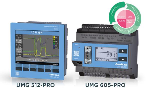 Power quality analysers UMG 512-PRO - UMG 605-PRO - Janitza