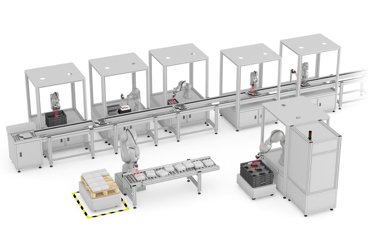 Modelfabriek met toepassing van vision sensoren - SensoPart